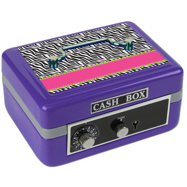 Personalized Groovy Zebra Cash Box