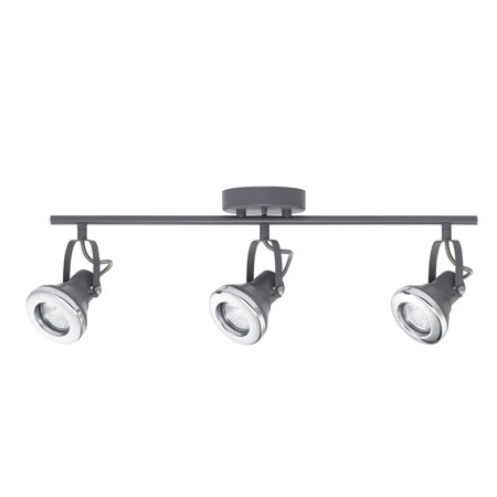 Novogratz X Globe Electric Lawrence 3 Light Gray Track Lighting 58857