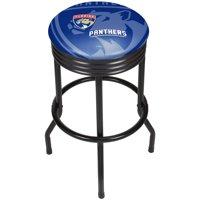 NHL Black Ribbed Bar Stool - Florida Panthers