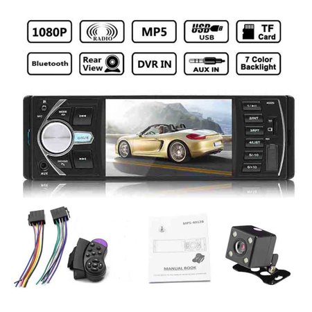 "Comaie 4.1"" Double 1 DIN Car MP5 MP3 Player Bluetooth Stereo Radio Camera - image 1 of 1"