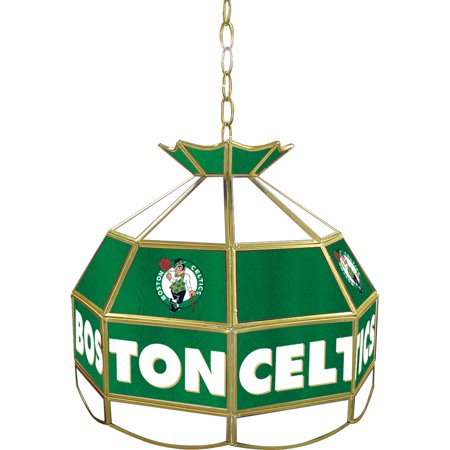 (Boston Celtics NBA 16 Inch Stained Glass Lamp)