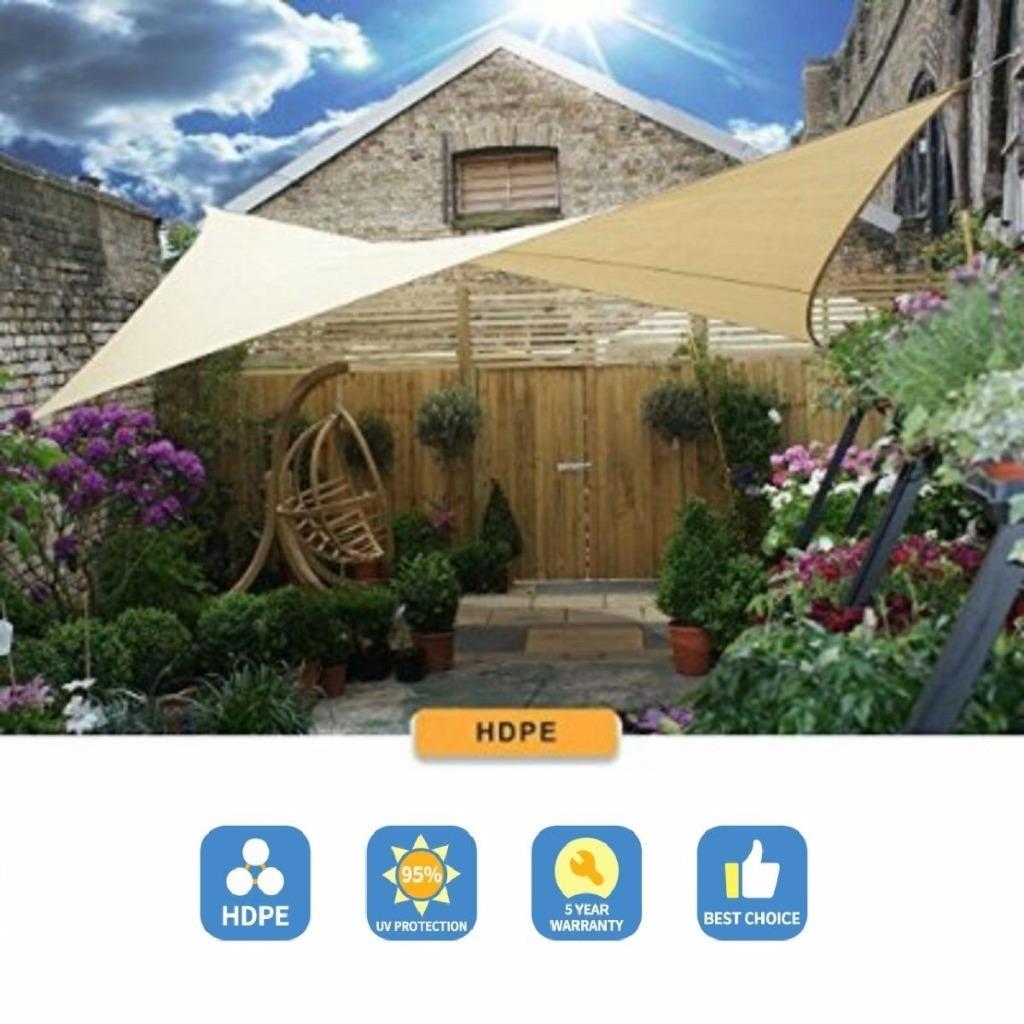 Sun Shade Sail Canopy 10 X 13 Rectangle Tan Uv Block Sun Shade