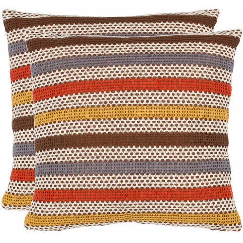 "Safavieh Bleeker 18"" x 18"" Pillow, Set of 2"