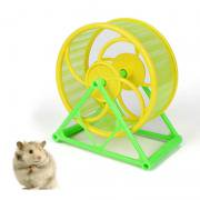 Jeobest 1PC Pet Toy Pet Run Wheel - Exercise Wheel Hamster Gerbil Cage Toy Spinner Pet Running Jogging Disk Silent MZ(Color (Best Size Wheel For Syrian Hamster)
