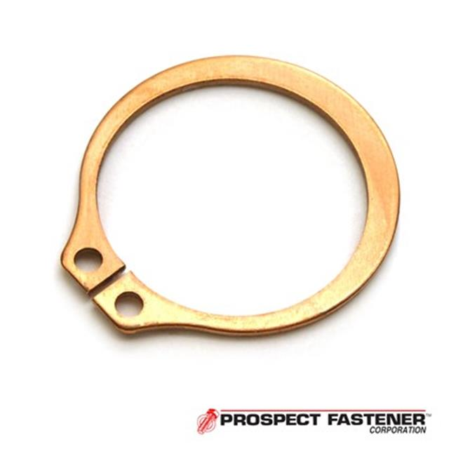 Rotor Clip SH-25BC . 25 inch Diameter Basic External Ring, . 025 inch Thick Beryllium Copper Plain, 25 Pieces