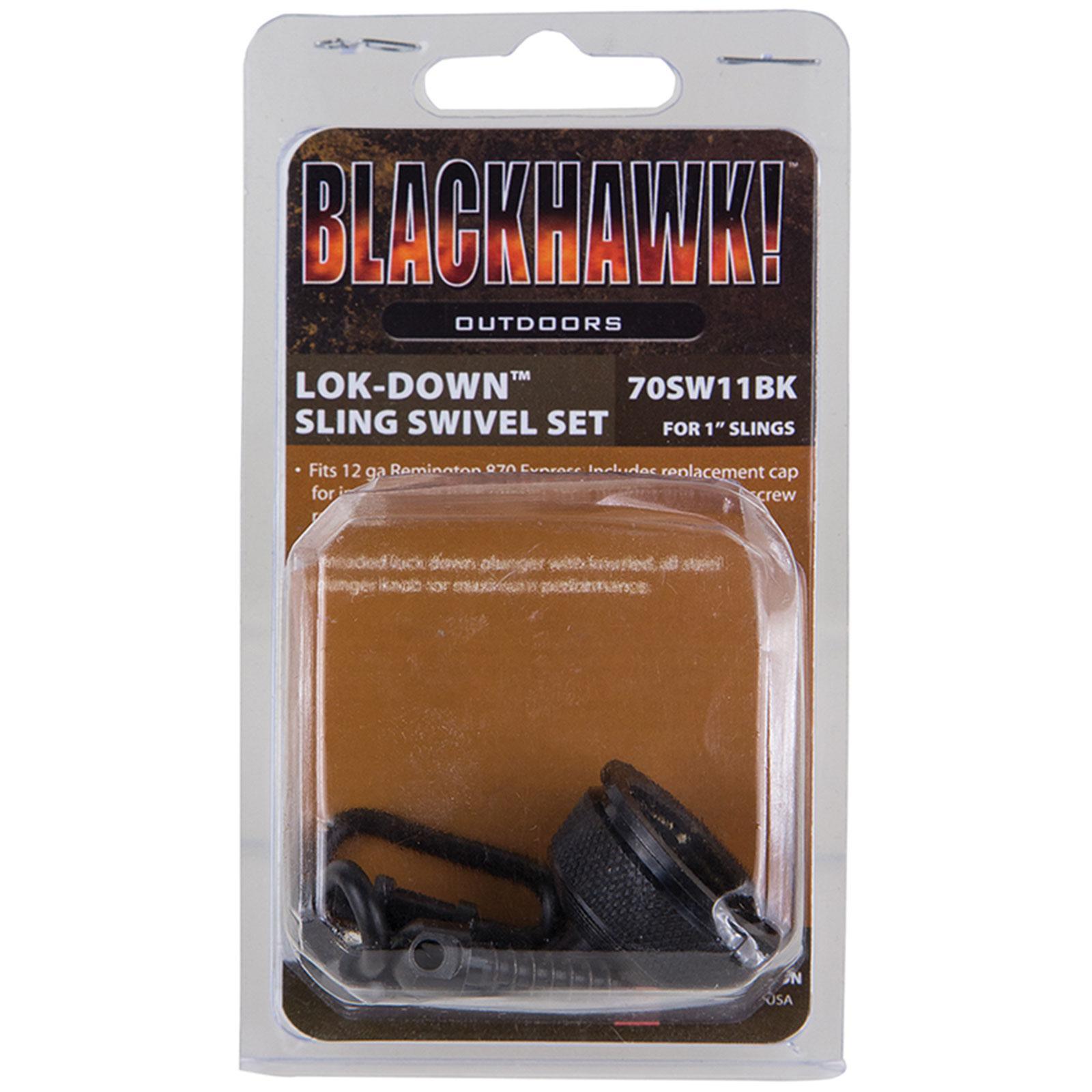 "Blackhawk 70SW11BK Lok-Down Swivel Set/Mag Cap Rem 870 Exp Internal, 1"", Blued"