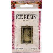 Ice Resin Milan Bezels Closed Back Rectangle Medium-Antique Bronze