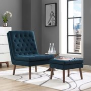 Modway Modify Upholstered Lounge Chair and Ottoman, Multiple Colors