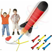 Toy Rocket Launcher - Jump Rocket Set Includes 6 Rockets - Play Rocket Soars Up to 100 Feet - Missile Launcher Best Gift for Boys and Girls - Air Rocket Great for Outdoor Play - Original