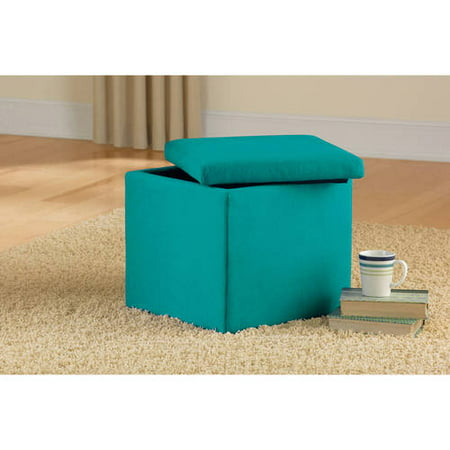 Mainstays Faux Suede Ultra Storage Ottoman, Multiple Colors - Walmart.com - Mainstays Faux Suede Ultra Storage Ottoman, Multiple Colors