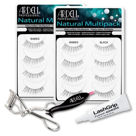 1b120a1bef2 Ardell Fake Eyelashes Babies Value Pack - Natural Multipack Babies (Black,  2-Pack