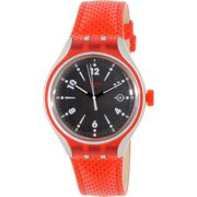 Swatch Men's Irony YES4001 Red Leather Swiss Quartz Fashion Watch