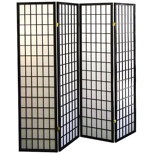 4 panel shoji screen room divider black walmart com cheap shoji screen room divider white shoji screen room divider