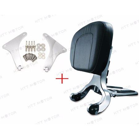 - Multi Purpose Black Backrest & Chrome Mount Bracket for Harley Heritage Softail