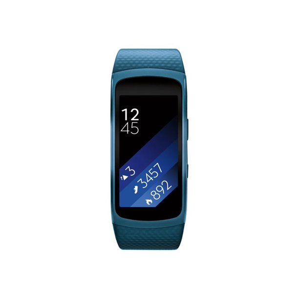 "Samsung Gear Fit2 - Activity tracker - band size 6.1 in - 8.27 in - L - display 1.5"" - 4 GB - Wi-Fi, Bluetooth - 1.06 oz - blue"