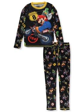 Cuddl Duds Boys' Mariokart 2-Piece Stretch Poly Long Underwear Set