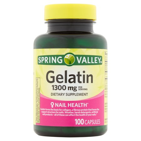 Spring Valley Gelatin Capsules, 1300 mg, 100 Ct