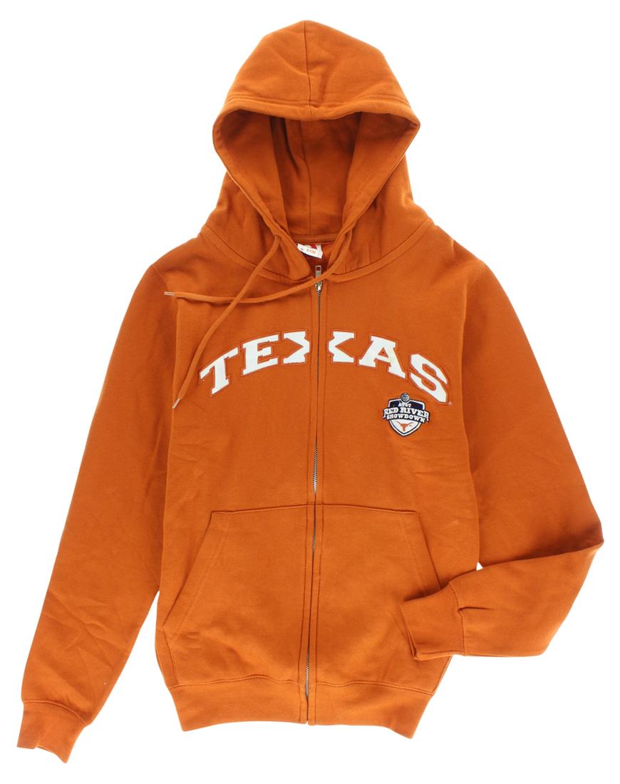 Legends Sportswear Mens Texas Longhorns Full Zip Hoodie Orange by