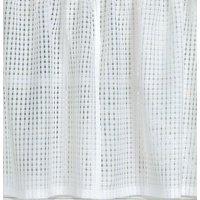 """Gridwork sheer White 36"""" kitchen curtain Tier"""