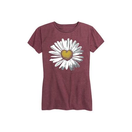 Daisy Heart  - Ladies Short Sleeve Classic Fit Tee