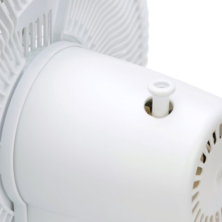 Comfort Zone 12'' Oscillating Table 3-Speed Fan, Model #CZ121, White