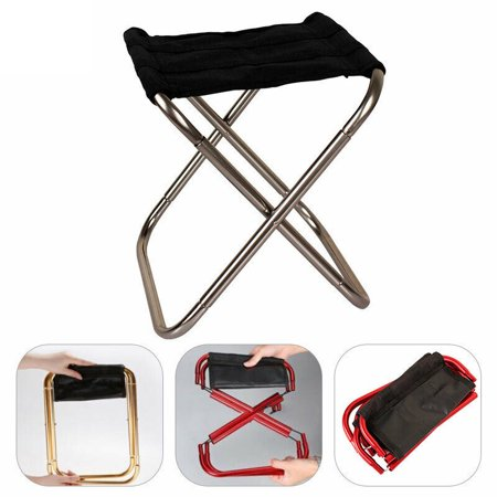 Portable Outdoor Aluminum Folding Chair Stool Seat For Outdoor Hiking Fishing Garden Picnic ()