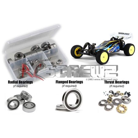 RC Screwz Rubber Shielded Bearing Kit for BSR/Basher BZ-222 1/10 Buggy #bsr001r