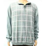 Tasso Elba NEW Blue Mens Size XL Quarter Zip Plaid Pullover Sweater