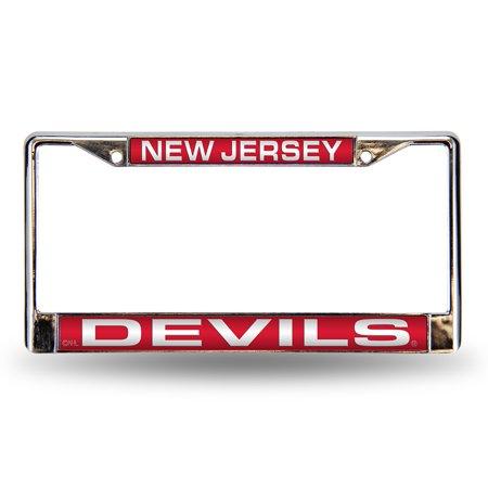 New Jersey Devils Laser Etched Chrome License Plate Frame