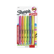 Sharpie Pocket Highlighters, Chisel Tip, Assorted Fluorescent, 4 + 2 Bonus Pack