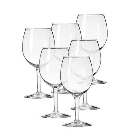 Set of 6, Premium Elegant Crystal Clear Wine Glasses 5 oz, for Sample Desert Shooters Tasting Cup Glasses