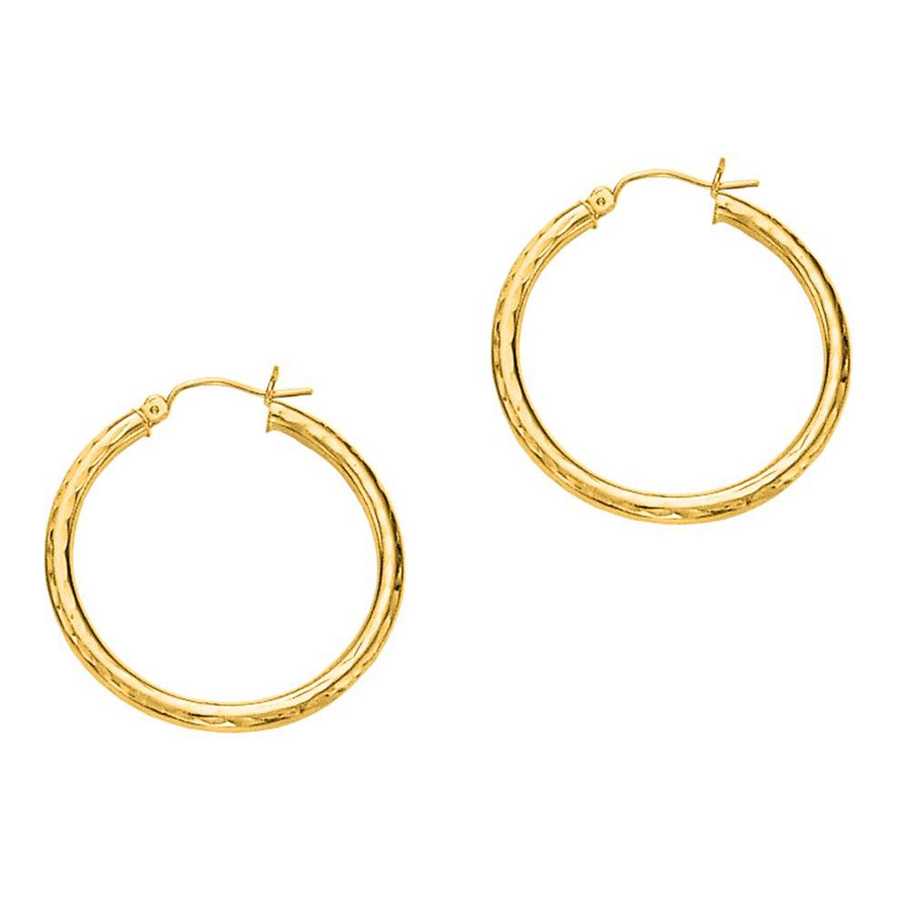 Jewelstop 14k Yellow Gold 30mmx3mm Hoop Earrings Walmart Com