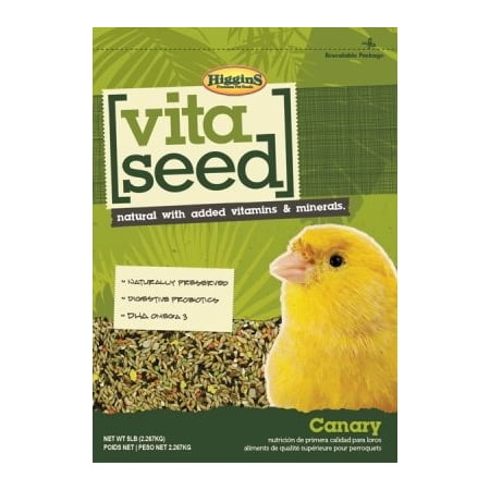 - Higgins Vita Seed Canary Bird Food, 5 lb