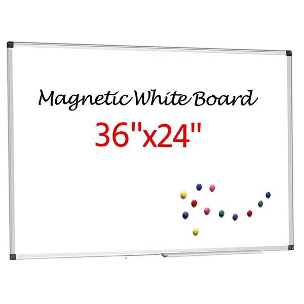 "Topeakmart 36""x24"" Single Side Magnetic Writing Whiteboard W/ Eraser"
