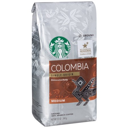 Colombia Single Origin Balanced   Nutty Medium Coffee 12 Oz  Package