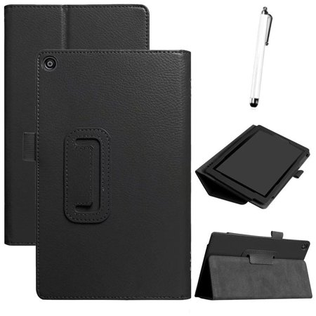 For Amazon Kindle Fire HD 8 2018 8th Gen Ultra Slim PU+Leather Case Cover Stand ()