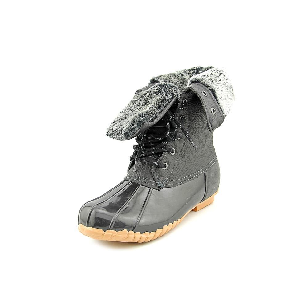 Sporto Daphne Women  Round Toe Leather Black Snow Boot