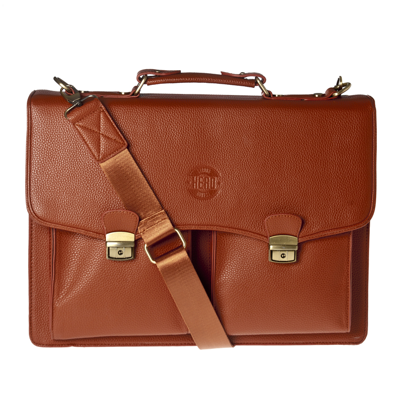 Hero Briefcases HROB275BRN Eisenhower Better Than Leather Briefcase, Brown