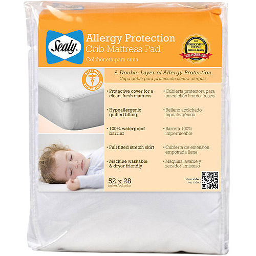 Sealy Allergy Protection Crib Mattress Pad