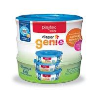 Playtex Baby Diaper Genie Diaper Disposal Pail System Refills 3-Pack