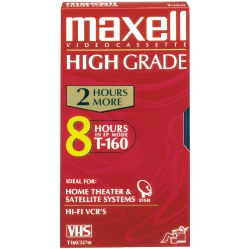 MAXELL 224510 PREMIUM HIGH-GRADE VHS VIDEO TAPES (8 HOURS) MAXELL 224510 PREMIUM HIGH-GRADE VHS VID