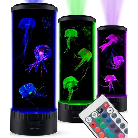 SensoryMoon Large LED Jellyfish Lamp ()