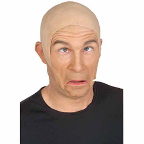 Latex Flesh Bald Head Adult Halloween Costume Accessory