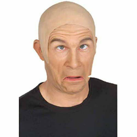 Latex Flesh Bald Head Adult Halloween Costume - Halloween Bald Caps With Hair