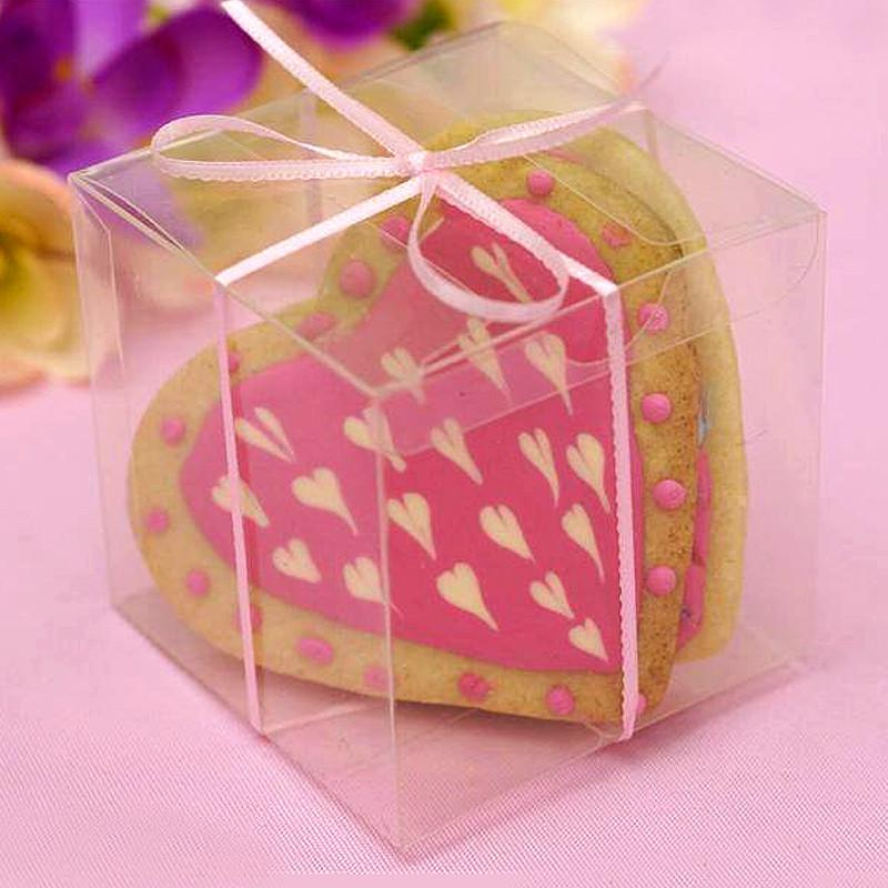 Efavormart 3x3 Clear Favor Box- Set of 25