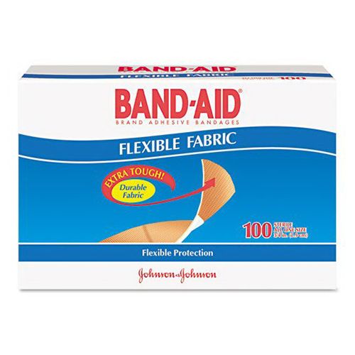 Band-Aid Flexible Fabric Adhesive Bandages 3/4 Inch X 3 Inch - 100 Ea