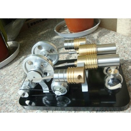 Sunnytech Hot Air Stirling Engine Motor Generator Education Toy Kits Electricity M16-22-d