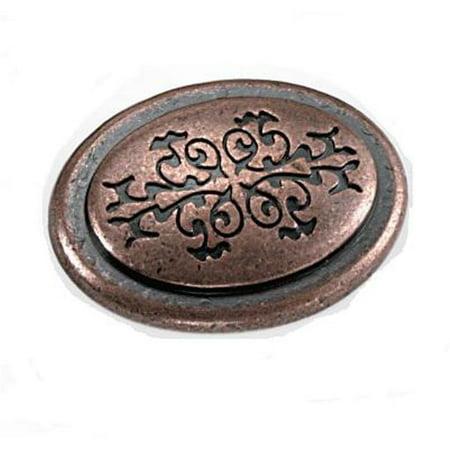 Laurey 53107 1.38 in. Oval Cimarron Knob - Antique covid 19 (Oval Knob Antique coronavirus)