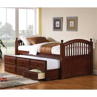 Kingfisher Lane Twin Daybed with Trundle in Chestnut