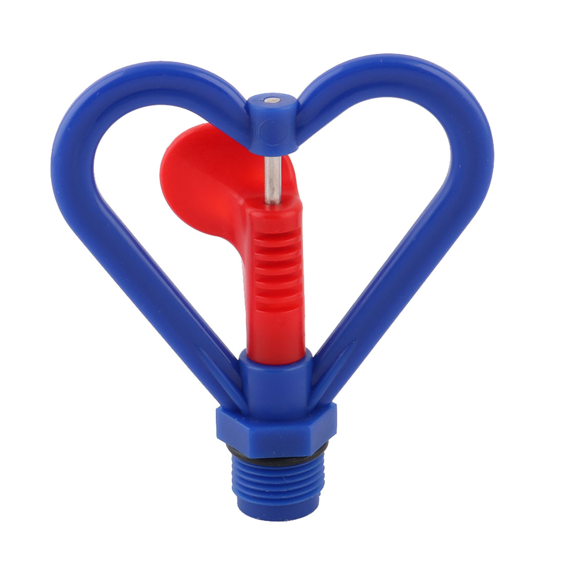 Garden Plastic Heart Shaped Plants Irrigation Water Sprayer Sprinkler Head Blue